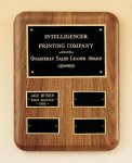 Solid American Walnut Quarterly Award Plaque 12 Plate Perpetual Plaques