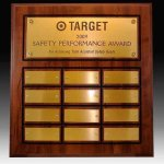 12 Plate Routed Perpetual Plaque 12 Plate Perpetual Plaques