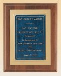American Walnut Plaque with Gold Embossed Frame Achievement Awards