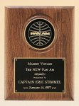 American Walnut Plaque with 4 Engravable Disk Achievement Awards