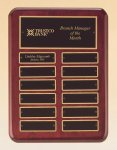 Rosewood Piano Finish Perpetual Plaque Achievement Awards