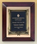 Cherry Finish Wood Frame Plaque with Wreath Achievement Awards