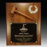 Gavel Plaque Achievement Awards