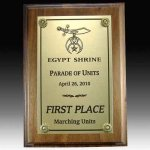 Walnut Plaque with Full Plate Achievement Awards