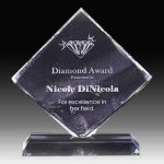 Diamond Shape Crystal Achievement Awards