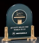 Jade Acrylic Award with Medallion Acrylic Award Trophy Metal