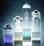 Fluted Pillar Acrylic Award Acrylic Awards Trophy