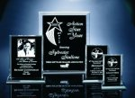 Back Beveled Black Painted Plaque Acrylic Awards Trophy