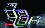 Slanted Hex Paper Weight Acrylic Award Acrylic Awards Trophy