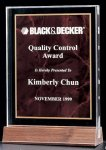 Acrylic Award with a Ruby Marble Center Acrylic Awards Trophy Wood