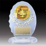 Clear Oval Acrylic Trophy with Mylar Insert All Trophies