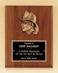 Fireman Award with Antique Bronze Finish Casting. Award Plaques