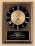 American Walnut Vertical Wall Clock Award Plaques