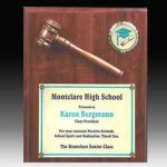 Gavel Plaque with Disc Insert Award Plaques