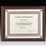 Walnut Screw Down Certificate Plaque Certificate Plaques
