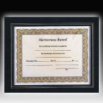 Leather Look Certificate Holder Certificate Plaques