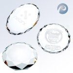 Gem-Cut Oval Paper Weight Circle Awards