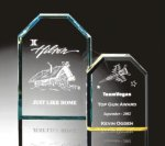 Beveled Clipped Corner Plaque Corporate Acrylic Awards Trophy