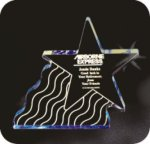 Shooting Star Acrylic Award Corporate Acrylic Awards Trophy