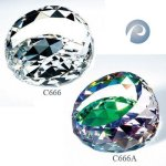 Gem-Cut Round Crystal Paperweights