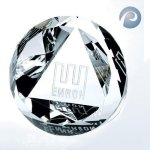 Slant Top Dome Paperweight Diamond Awards