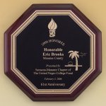 Octagonal Rosewood Piano Finish Plaque Employee Awards
