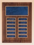 Solid American Walnut Perpetual Plaque Employee Awards