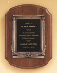 American Walnut Plaque with an Antique Bronze Casting Employee Awards