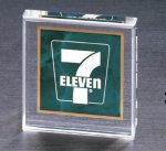 Emerald Marble Square Acrylic Paper Weight Employee Awards