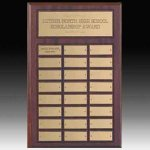 24 Plate Perpetual Plaque Plate Employee Awards