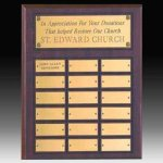 18 Plate Routed Perpetual Plaque Employee Awards