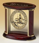 Skeleton Clock with Brass and Rosewood Piano Finish Executive Gifts