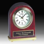 Piano Finish Desk Clock Executive Gifts