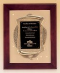 Rosewood Piano Finish Frame Plaque with Cast Relief Executive Plaques