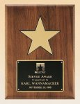 American Walnut Plaque with 5 Gold Star Executive Plaques