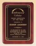 Rosewood Piano Finish Plaque with Brass Plate Executive Plaques