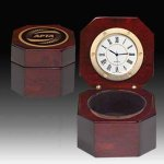 Captains or Desk  Clock - Piano Finish Gifts Personalized