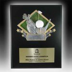 Plaque with Diamond Resin Relief Golf