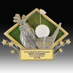 Golf Diamond Resin Golf Plaques