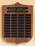 American Walnut Shield Perpetual Plaque Large Perpetual Plaques