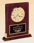 Desk Rosewood Piano Finish Clock Mantel Clocks
