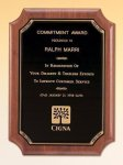 American Walnut Plaque Religious Awards