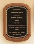 American Walnut Plaque with Braided Border Religious Awards