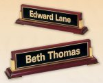 Rosewood Piano Finish Nameplate Sales Awards