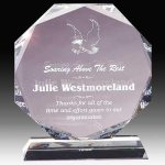 Crystal Multi Faceted Award Sales Awards