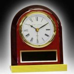 Piano Finish Desk Clock Sales Awards