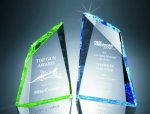Faceted Mountain Cut Acrylic Award Sales Awards