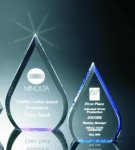 Beveled Teardrop Acrylic Award Sales Awards