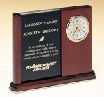 Versatile Clock Rosewood Piano Finish Desk Clock Secretary Gifts