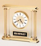 Traditionally Styled Desk Clock Secretary Gifts